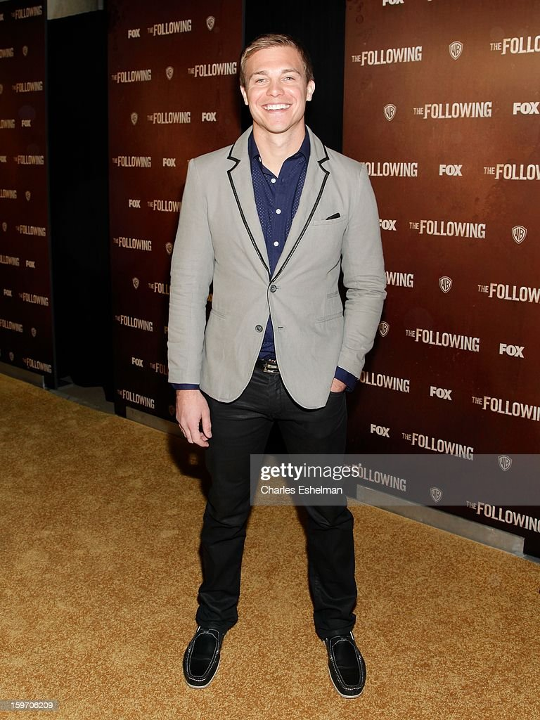 Actor Michael Roark attends 'The Following' premiere at The New York Public Library on January 18, 2013 in New York City.
