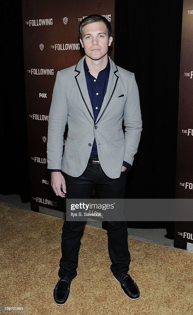 Actor Michael Roark attends 'The Following' World Premiere at The New York Public Library on January 18, 2013 in New York City.