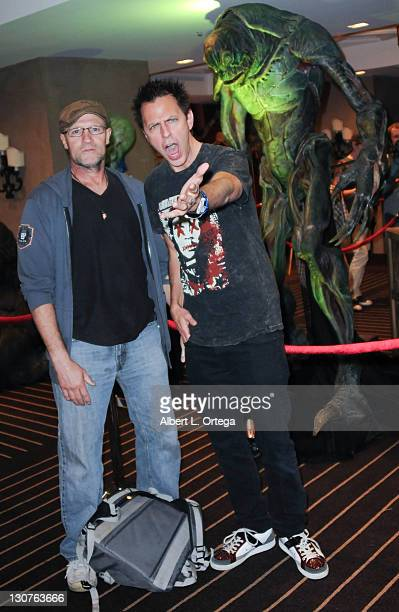 Actor Michael Rooker and director James Gunn participates in the Aliens To Zombies Convention held at the Hollywood Roosevelt Hotel on October 21...