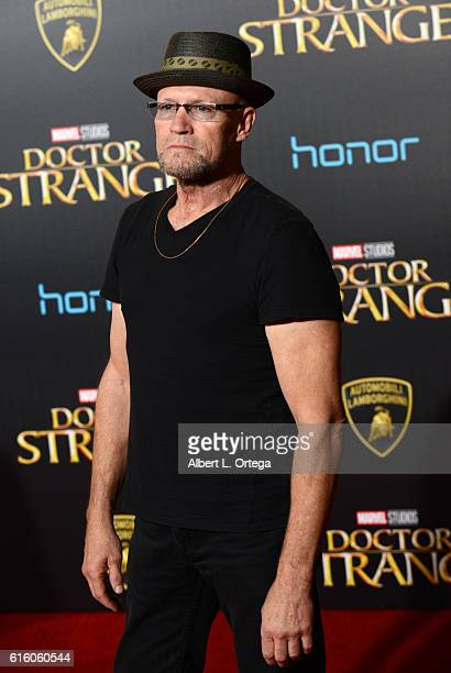 Actor Michael Rooker arrives for the Premiere Of Disney And Marvel Studios' 'Doctor Strange' held at the El Capitan Theatre on October 20 2016 in...