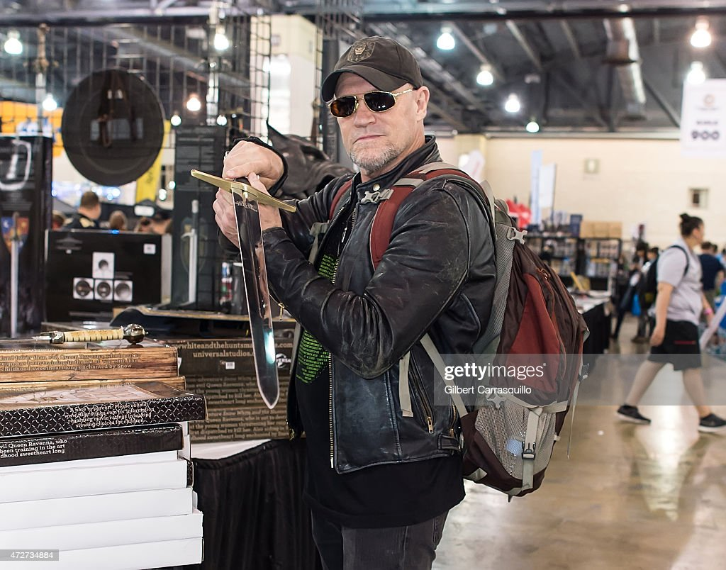 Actor <a gi-track='captionPersonalityLinkClicked' href=/galleries/search?phrase=Michael+Rooker&family=editorial&specificpeople=640228 ng-click='$event.stopPropagation()'>Michael Rooker</a> attends day 2 of Wizard World Comic Con at Pennsylvania Convention Center on May 8, 2015 in Philadelphia, Pennsylvania.