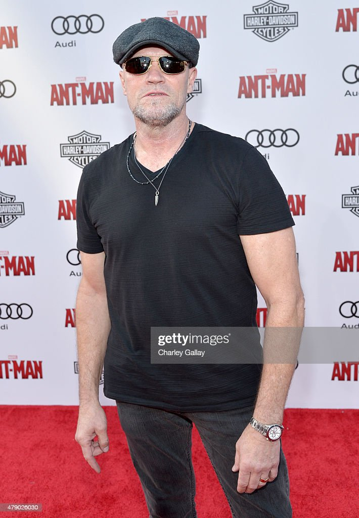 Actor <a gi-track='captionPersonalityLinkClicked' href=/galleries/search?phrase=Michael+Rooker&family=editorial&specificpeople=640228 ng-click='$event.stopPropagation()'>Michael Rooker</a> attends the world premiere of Marvel's 'Ant-Man' at The Dolby Theatre on June 29, 2015 in Los Angeles, California.
