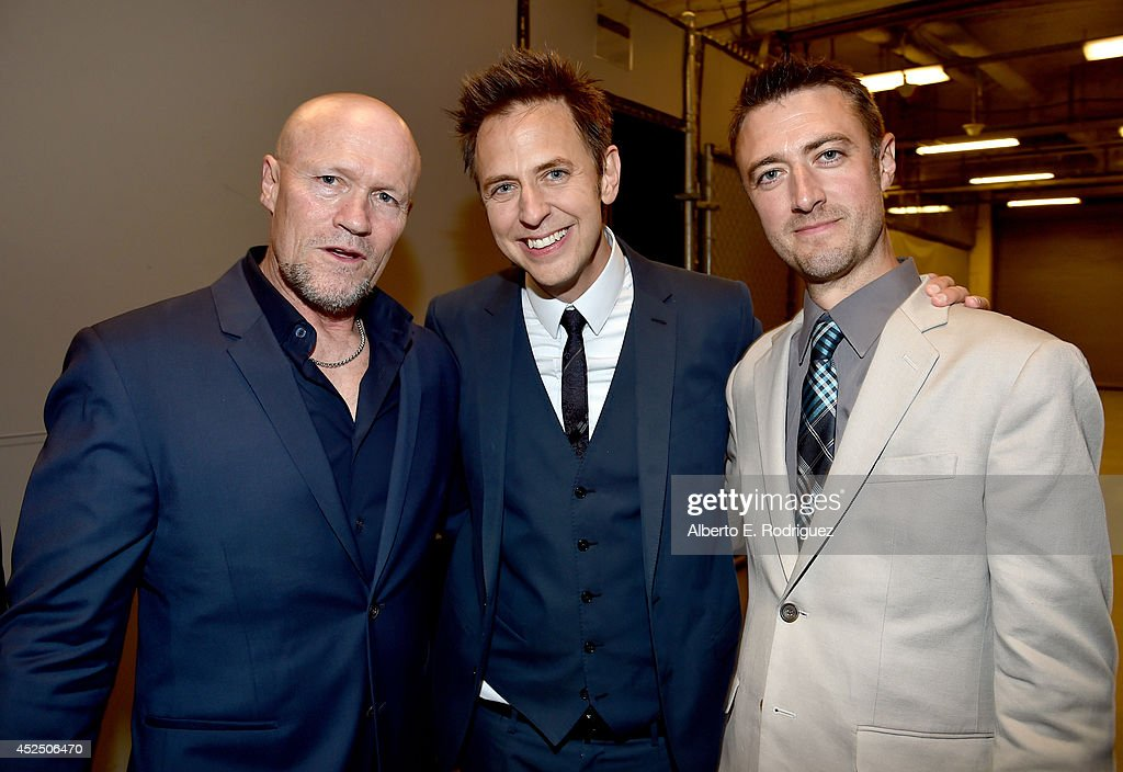 "Actor Michael Rooker, Director James Gunn and actor Sean Gunn attend The World Premiere of Marvel's epic space adventure ""Guardians of the Galaxy,"" directed by James Gunn and presented in Dolby 3D and Dolby Atmos at the Dolby Theatre. July 21, 2014 Hollywood, CA"