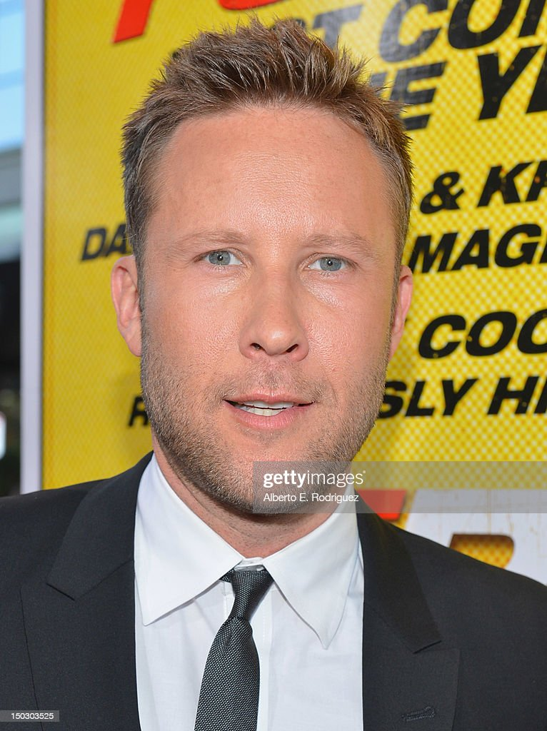 Actor <a gi-track='captionPersonalityLinkClicked' href=/galleries/search?phrase=Michael+Rosenbaum&family=editorial&specificpeople=228344 ng-click='$event.stopPropagation()'>Michael Rosenbaum</a> arrives to the premiere of Open Road Films' 'Hit and Run' on August 14, 2012 in Los Angeles, California.