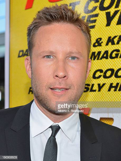 Actor Michael Rosenbaum arrives to the premiere of Open Road Films' 'Hit and Run' on August 14 2012 in Los Angeles California