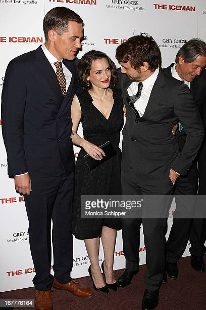 Actor Michael Shannon actress Winona Ryder and actor James Franco attends the 'The Iceman' screening at Chelsea Clearview Cinemas on April 29 2013 in...