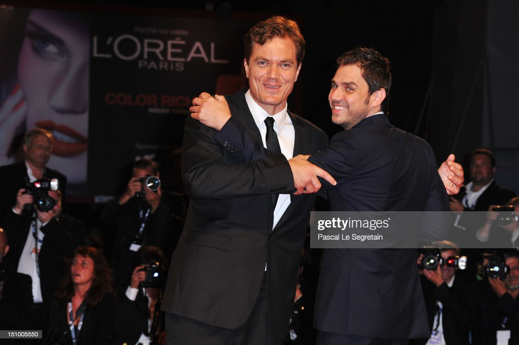 Actor <a gi-track='captionPersonalityLinkClicked' href=/galleries/search?phrase=Michael+Shannon&family=editorial&specificpeople=660513 ng-click='$event.stopPropagation()'>Michael Shannon</a> and director Ariel Vromen attend 'The Iceman' premiere during the 69th Venice Film Festival at the Palazzo del Cinema on August 30, 2012 in Venice, Italy.