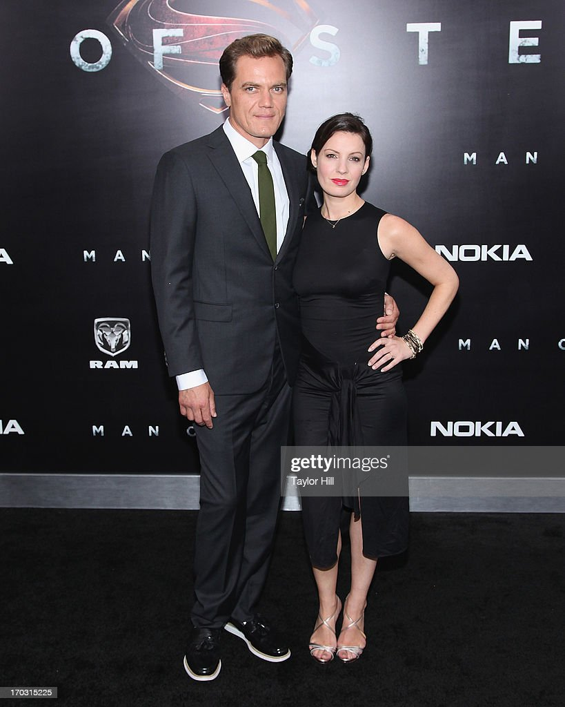 Actor Michael Shannon and Kate Arrington attend the 'Man Of Steel' World Premiere at Alice Tully Hall at Lincoln Center on June 10, 2013 in New York City.