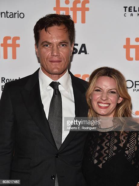 Actor Michael Shannon and Kate Arrington attend the 'Nocturnal Animals' premiere during the 2016 Toronto International Film Festival at Princess of...