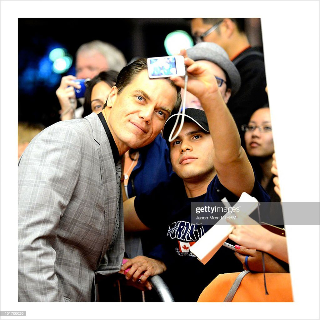 Image was processed using various digital filters) Actor <a gi-track='captionPersonalityLinkClicked' href=/galleries/search?phrase=Michael+Shannon&family=editorial&specificpeople=660513 ng-click='$event.stopPropagation()'>Michael Shannon</a> arrives at 'The Iceman' Premiere during the 2012 Toronto International Film Festival at the Princess of Wales Theatre on September 10, 2012 in Toronto, Canada.