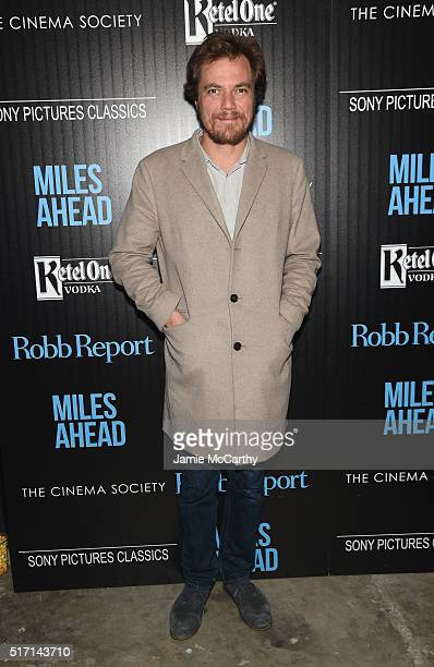 Actor Michael Shannon arrives at the screening of Sony Pictures Classics' 'Miles Ahead' hosted by The Cinema Society with Ketel One and Robb Report...