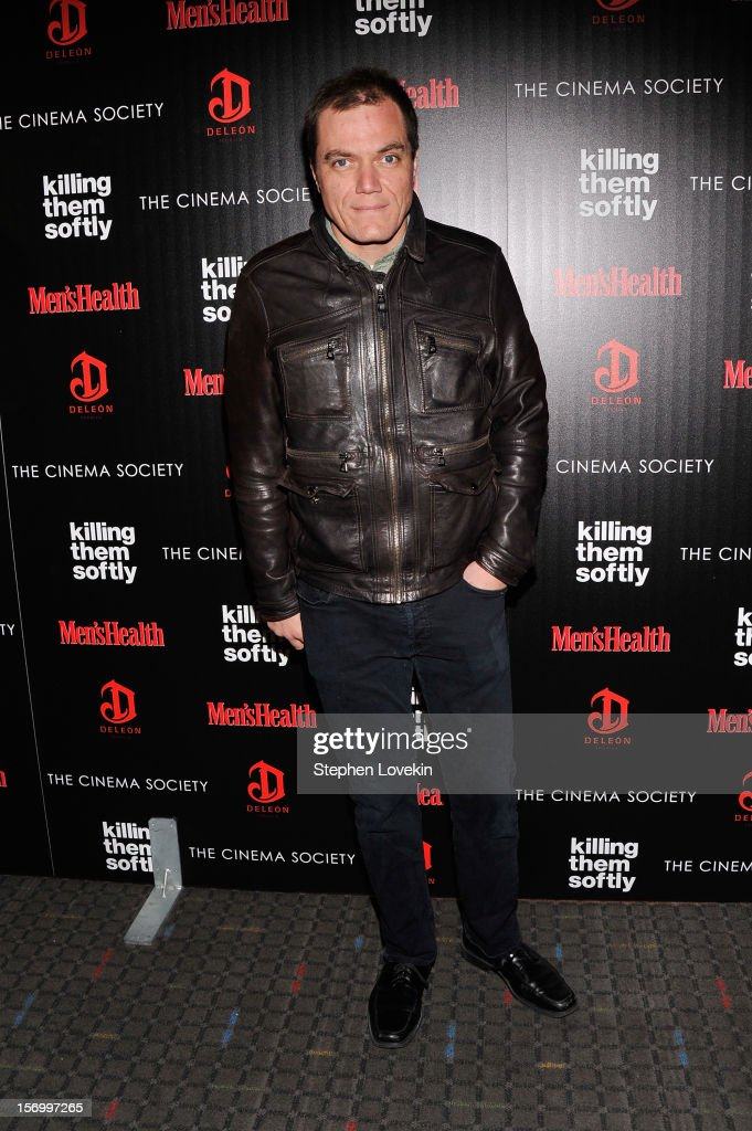 Actor Michael Shannon attends The Cinema Society with Men's Health and DeLeon hosted screening of The Weinstein Company's 'Killing Them Softly' on November 26, 2012 in New York City.