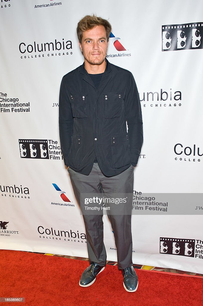 Actor <a gi-track='captionPersonalityLinkClicked' href=/galleries/search?phrase=Michael+Shannon&family=editorial&specificpeople=660513 ng-click='$event.stopPropagation()'>Michael Shannon</a> attends the 'The Harvest' premiere at AMC River East Theater on October 19, 2013 in Chicago, Illinois.