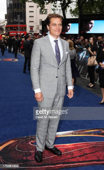 Actor Michael Shannon attends the UK Premiere of 'Man of Steel' at Odeon Leicester Square on June 12 2013 in London England
