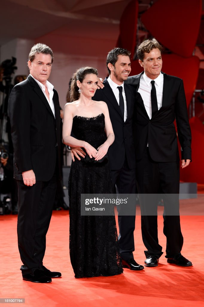 Actor <a gi-track='captionPersonalityLinkClicked' href=/galleries/search?phrase=Michael+Shannon&family=editorial&specificpeople=660513 ng-click='$event.stopPropagation()'>Michael Shannon</a>, director Ariel Vromen, actress <a gi-track='captionPersonalityLinkClicked' href=/galleries/search?phrase=Winona+Ryder&family=editorial&specificpeople=203145 ng-click='$event.stopPropagation()'>Winona Ryder</a> and actor <a gi-track='captionPersonalityLinkClicked' href=/galleries/search?phrase=Ray+Liotta&family=editorial&specificpeople=211136 ng-click='$event.stopPropagation()'>Ray Liotta</a> attend 'The Iceman' premiere during the 69th Venice Film Festival at the Palazzo del Cinema on August 30, 2012 in Venice, Italy.