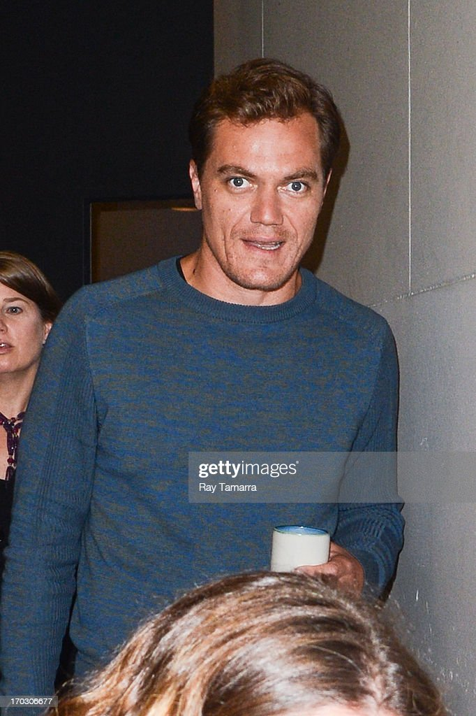 Actor Michael Shannon leaves the MTV Studios on June 10, 2013 in New York City.
