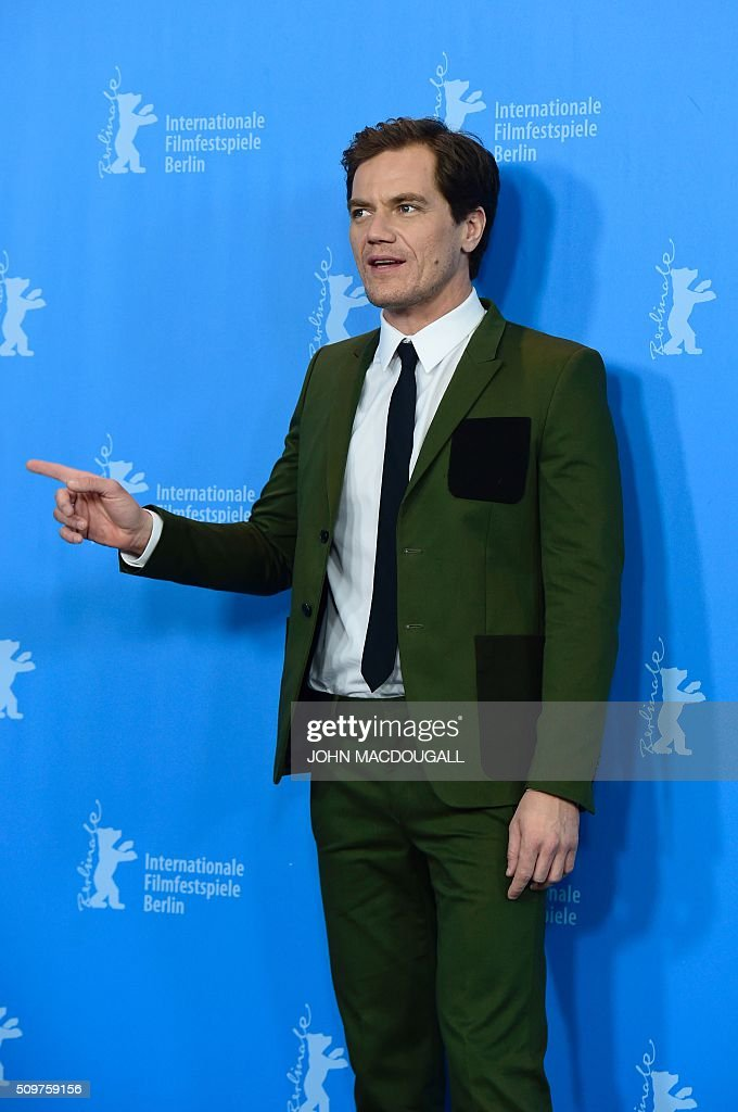 US actor Michael Shannon poses during a photocall for the film 'Midnight Special' presented at the Berlinale Film Festival in Berlin on February 12, 2016. Eighteen pictures will vie for the Golden Bear top prize at the event which runs from February 11 to 21, 2016. / AFP / John MACDOUGALL