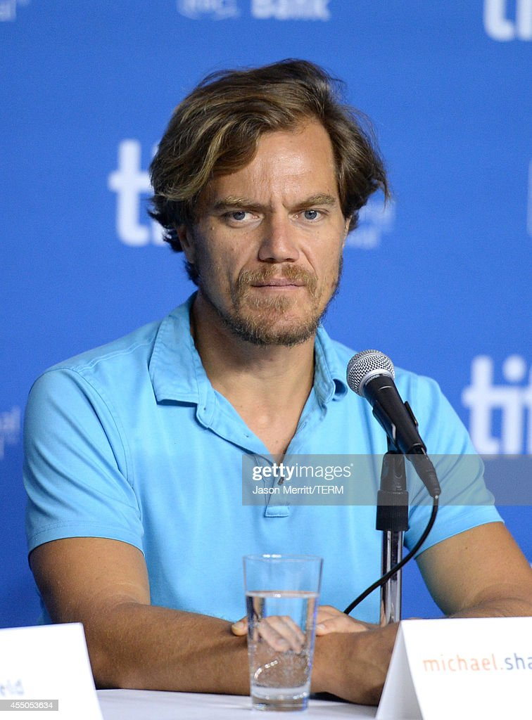 Actor Michael Shannon speaks onstage at '99 Homes' Press Conference during the 2014 Toronto International Film Festival at TIFF Bell Lightbox on...