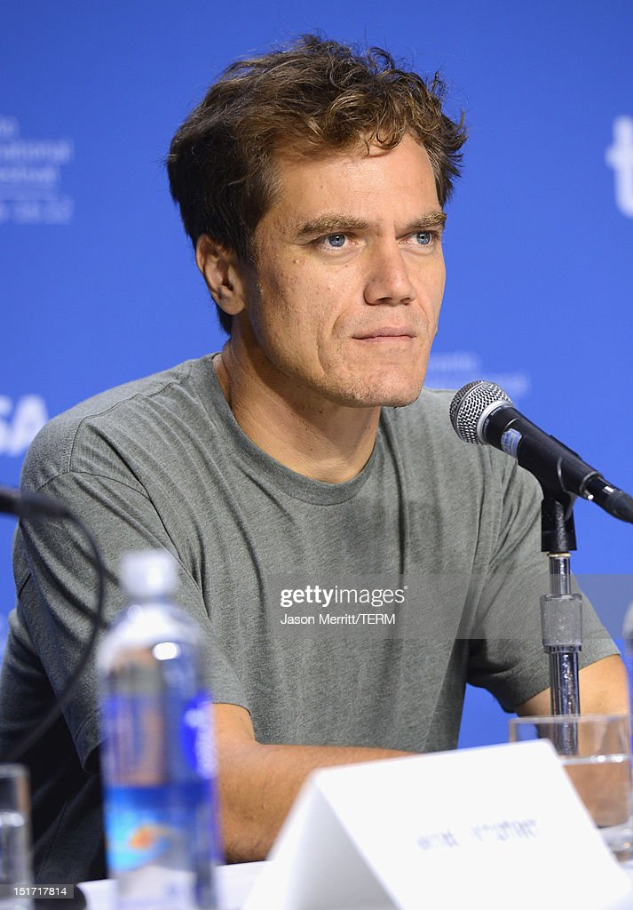 Actor Michael Shannon speaks onstage at the 'Iceman' Press Conference during the 2012 Toronto International Film Festival at TIFF Bell Lightbox on...
