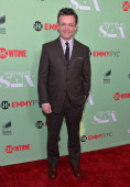 Actor Michael Sheen arrive to an exclusive conversation with the cast of Showtime's 'Masters Of Sex' at Leonard H Goldenson Theatre on April 29 2014...