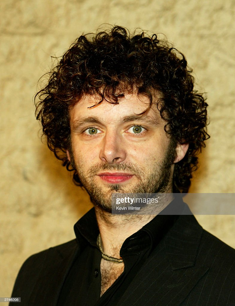 Actor Michael Sheen arrives at the premiere of 'Timeline' at the National Theatre on November 19, 2003 in Los Angeles, California.