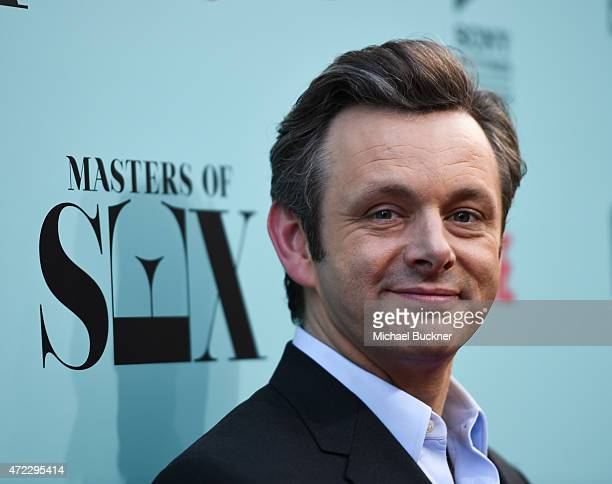 Actor Michael Sheen arrives at the screening of Showtime and Sony Pictures Television's 'Masters Of Sex' at the Cary Grant Theater on May 5 2015 in...
