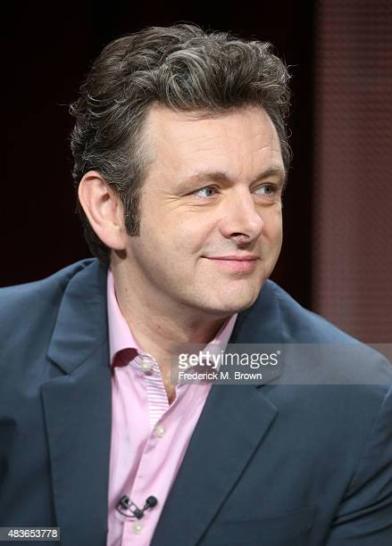 Actor Michael Sheen speaks onstage during the 'Masters of Sex' panel discussion at the Showtime portion of the 2015 Summer TCA Tour at The Beverly...
