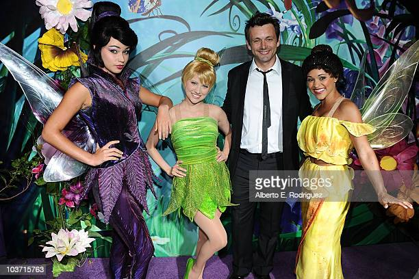 Actor Michael Sheen with Tinker Bell and the Fairies attends Picnic In The Park For 'Tinker Bell And The Great Fairy Rescue' at La Cienega Park on...