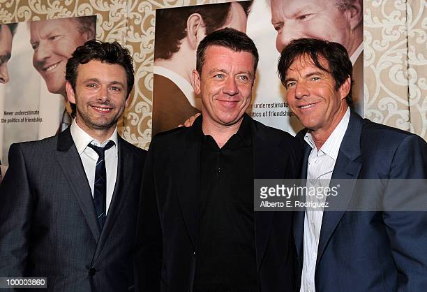 Actor Michael Sheen writer Peter Morgan and actor Dennis Quaid arrive at the Los Angeles premiere of HBO Films' 'The Special Relationship' at the DGA...