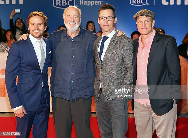 Actor Michael StahlDavid director Rob Reiner actor Jeffrey Donovan and actor Woody Harrelson attend the 2016 Toronto International Film Festival...