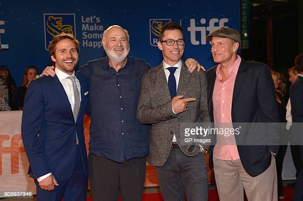 Actor Michael StahlDavid director Rob Reiner actors Jeffrey Donovan and Woody Harrelson attend the 'LBJ' premiere during the 2016 Toronto...
