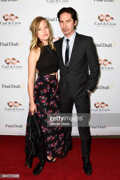 Actor Michael Teh and guest attend the 12th Annual Final Draft Awards at Paramount Theatre on February 23 2017 in Hollywood California