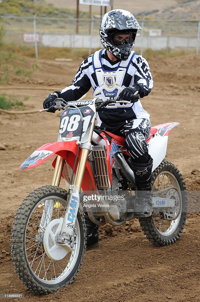 Actor Michael Trevino attends Oakley's Learn To Ride Motocross event at Stawest MX Track on May 23, 2011 in Lake Perris, California.