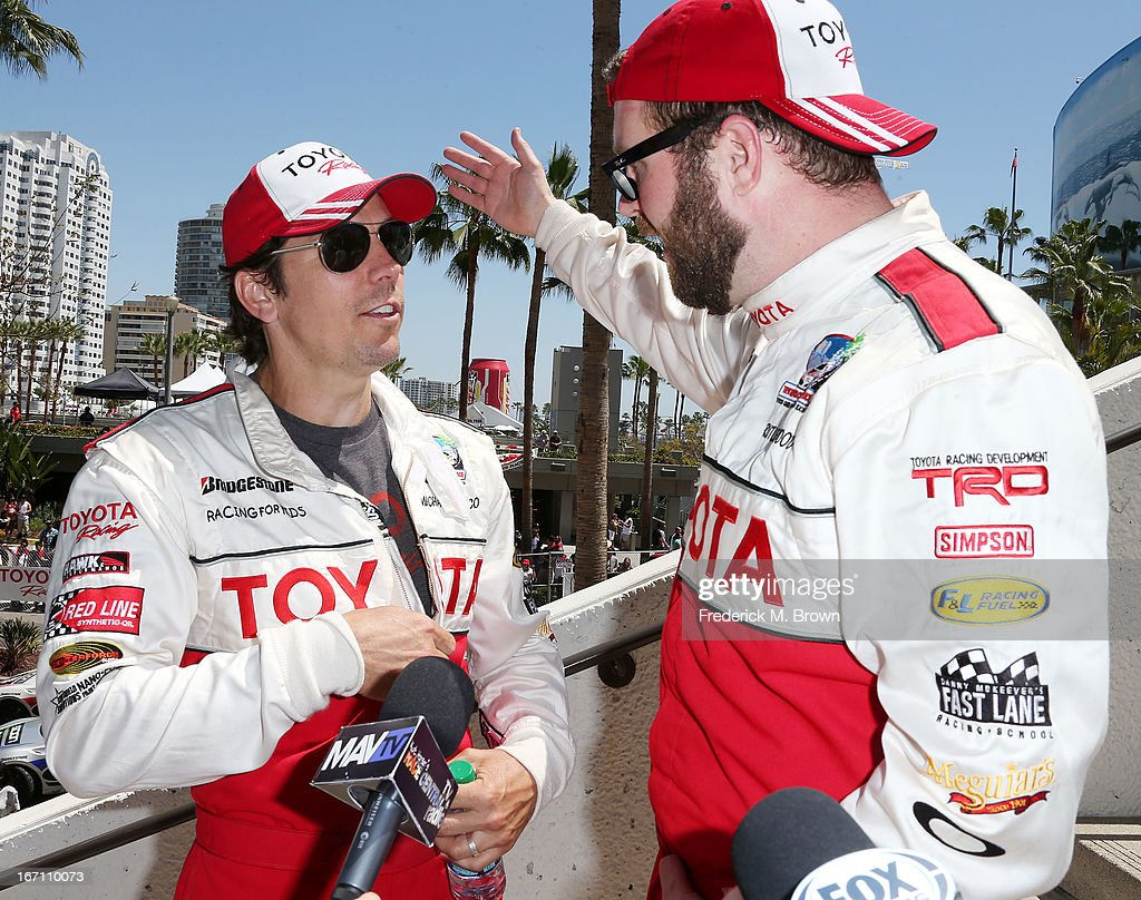 Actor michael trucco l and and television host actor rutledge wood race