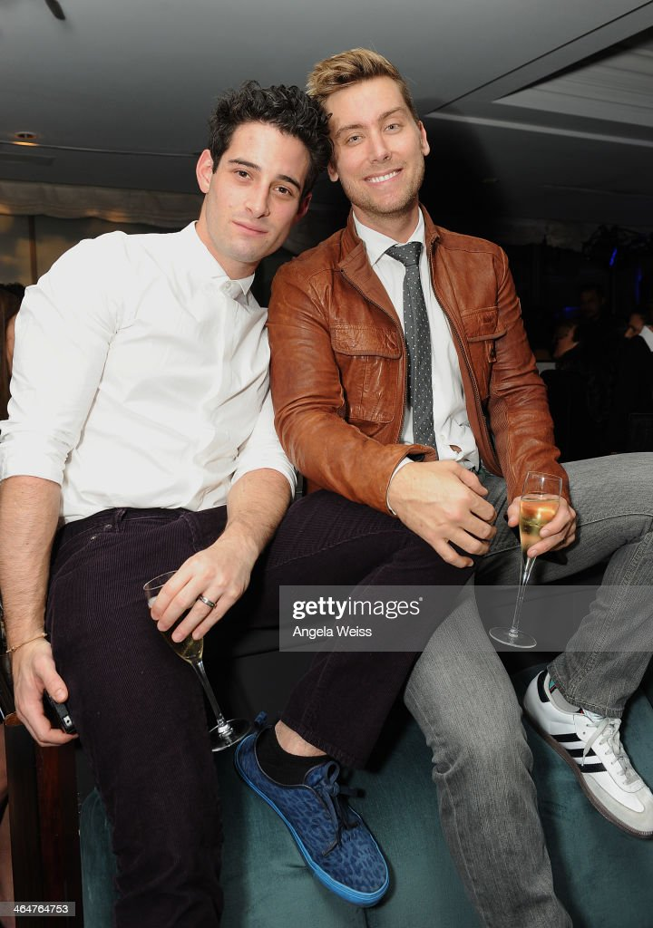 Actor Michael Turchin (L) and singer <a gi-track='captionPersonalityLinkClicked' href=/galleries/search?phrase=Lance+Bass&family=editorial&specificpeople=210566 ng-click='$event.stopPropagation()'>Lance Bass</a> join Delta Air Lines in toasting 2014 GRAMMY Weekend with private reception and performance from Lorde, four-time 2014 GRAMMY award nominee in West Hollywood, CA on January 23rd 2014