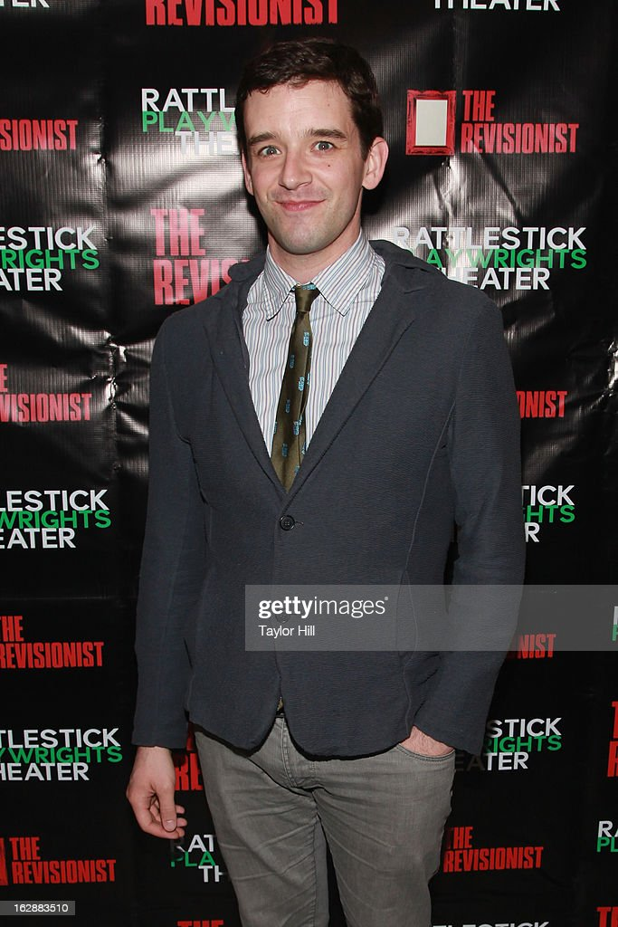 Actor Michael Urie attends 'The Revisionist' Opening Night at Cherry Lane Theatre on February 28, 2013 in New York City.