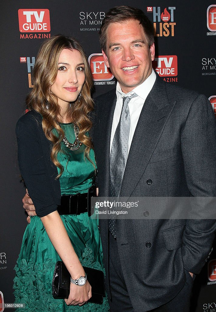 Actor <a gi-track='captionPersonalityLinkClicked' href=/galleries/search?phrase=Michael+Weatherly&family=editorial&specificpeople=3321266 ng-click='$event.stopPropagation()'>Michael Weatherly</a> (R) and wife Bojana Jankovic attend TV Guide Magazine's 2012 Hot List Party at SkyBar at the Mondrian Los Angeles on November 12, 2012 in West Hollywood, California.