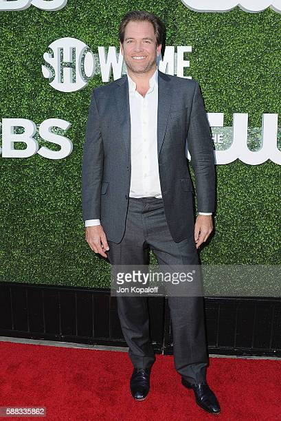 Actor Michael Weatherly arrives at CBS CW Showtime Summer TCA Party at Pacific Design Center on August 10 2016 in West Hollywood California
