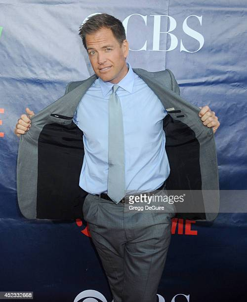 Actor Michael Weatherly arrives at the 2014 Television Critics Association Summer Press Tour CBS CW And Showtime Party at Pacific Design Center on...