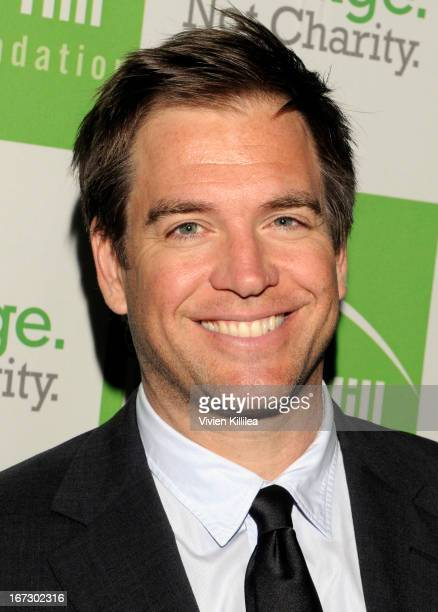 Actor Michael Weatherly attends Liberty Hill's Upton Sinclair Awards Dinner Honors at The Beverly Hilton Hotel on April 23 2013 in Beverly Hills...