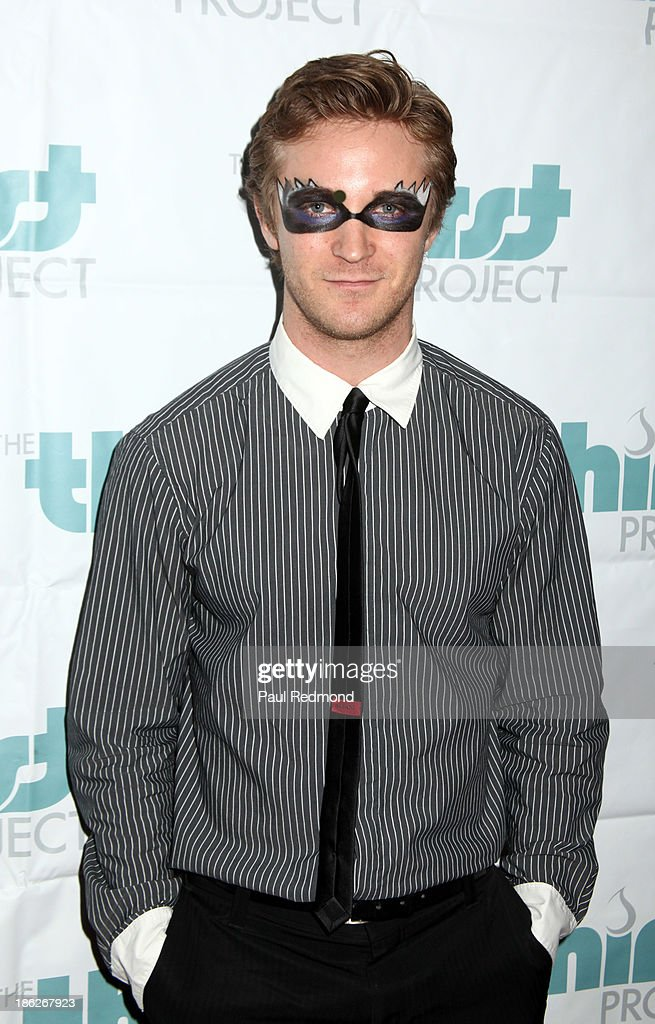 Actor Michael Welch arrives at The Thirst Project Annual Masquerade Dinner on October 29, 2013 in Glendale, California.
