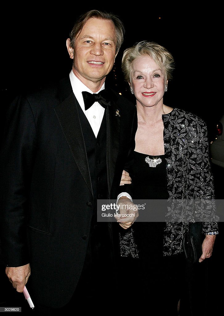 Actor Michael York and wife Patricia arrives at the 13th Annual Night of 100 Stars Oscar Viewing Black Tie Gala, February 29, 2004 at the Beverly Hills Hotel in Beverly Hills, California.