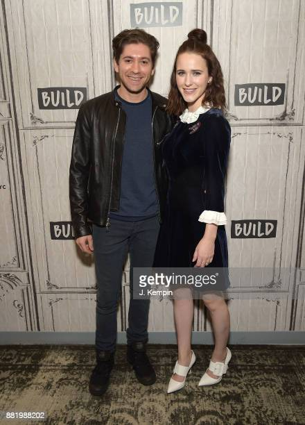 Actor Michael Zegen and actress Rachel Brosnahan visit Build Series at Build Studio on November 29 2017 in New York City