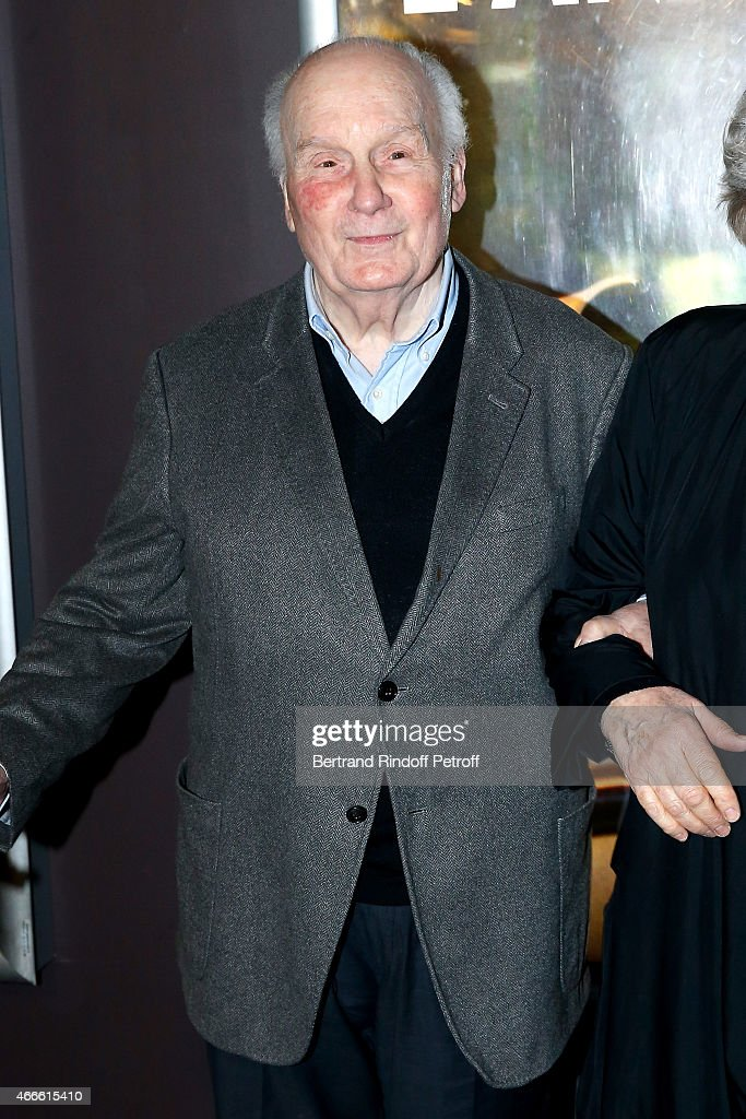Actor <a gi-track='captionPersonalityLinkClicked' href=/galleries/search?phrase=Michel+Bouquet&family=editorial&specificpeople=2025171 ng-click='$event.stopPropagation()'>Michel Bouquet</a> attends the 'L'Antiquaire' Paris Premiere at Le Cinema des Cineastes on March 17, 2015 in Paris, France.