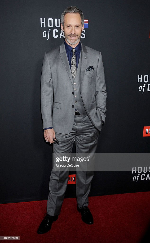 Actor Michel Gill arrives at the 'House Of Cards' Season 2 special screening at Directors Guild Of America on February 13, 2014 in Los Angeles, California.