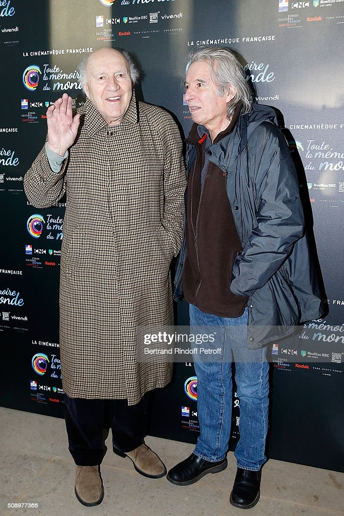 Actor <a gi-track='captionPersonalityLinkClicked' href=/galleries/search?phrase=Michel+Piccoli&family=editorial&specificpeople=228573 ng-click='$event.stopPropagation()'>Michel Piccoli</a> and Director Jacques Doillon attend 'La Fille Prodigue' Special Screening at Cinematheque Francaise on February 7, 2016 in Paris, France.