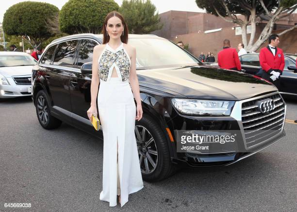 Actor Michelle Dockery arrives in an Audi Q7 to the 25th Annual Elton John AIDS Foundation's Oscar Viewing Party at The City of West Hollywood Park...