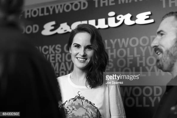 Actor Michelle Dockery attends Esquire's celebration of March cover star James Corden and the Mavericks of Hollywood presented by Hugo Boss at Sunset...