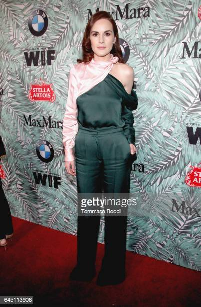 Actor Michelle Dockery attends the tenth annual Women in Film PreOscar Cocktail Party presented by Max Mara and BMW at Nightingale Plaza on February...