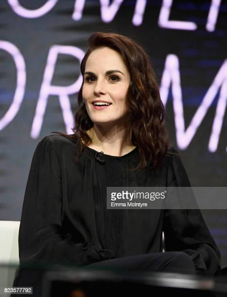 Actor Michelle Dockery of 'Leading Women In Comedy Drama' speaks onstage during the TCA Turner Summer Press Tour 2017 Presentation at The Beverly...